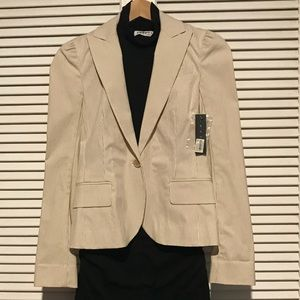 THEORY Pacey Blazer Jacket NWT Khaki/White size 0